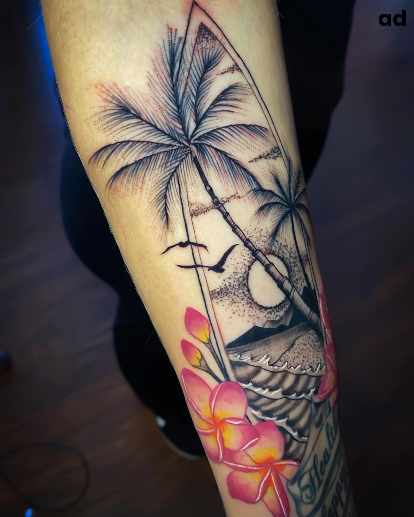 Beach Tattoo Ideas